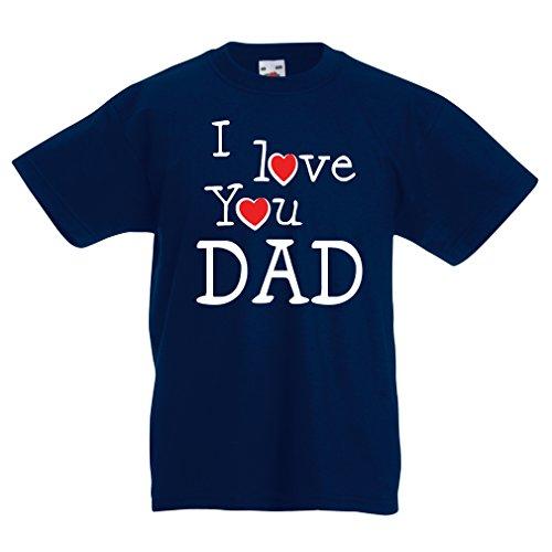 lepni.me Camisas para niños Te Amo papá - para el Padre, el Marido, el Abuelo (9-11 Years Azul Oscuro