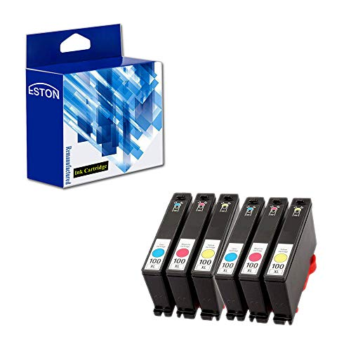 ESTON Compatible Ink Cartridge Replacement for Lexmark 100XL 100 XL (6) Pack (2 Cyan, 2 Magenta, 2 Yellow) 14N1069 14N1070 14N1071