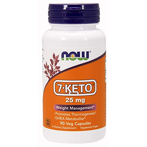 NOW Supplements, 7-Keto (DHEA Acetate-7-one) 25 mg, Weight Management*, 90 Veg Capsules