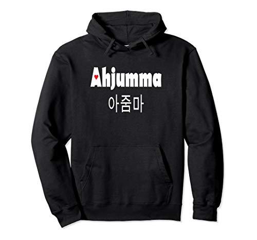 Ahjumma Cute Heart Korean Woman Korea Kdrama Kpop Pullover Hoodie