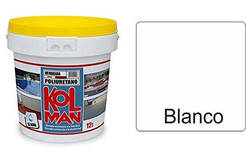 Membrana poliuretano Pur kolman al agua (12 Kg, Blanco)