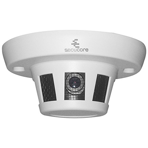 secucore Cámara Oculta en Detector Humo CCTV AHD Video 720p 1 MP
