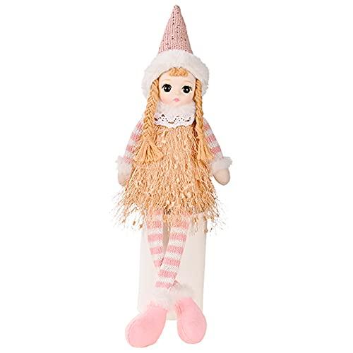 Elfos de juguete decoraciones, hermosas muñecas de felpa de patas largas sentadas, duende de peluche de Navidad, para decoración de fiesta en el hogar, regalos de Navidad para niños y niñas