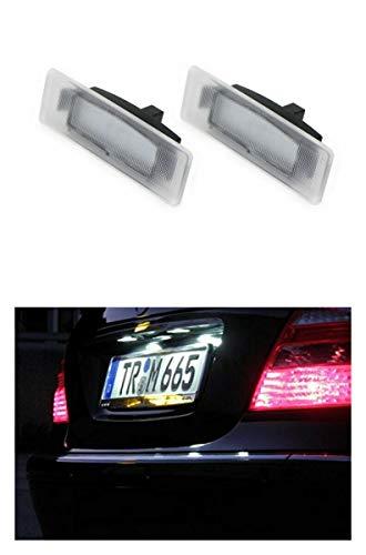 Preisvergleich Produktbild 2x Neu LED SMD Kennzeichenbeleuchtung Nummernschildbeleuchtung Weiß (032106Ki)