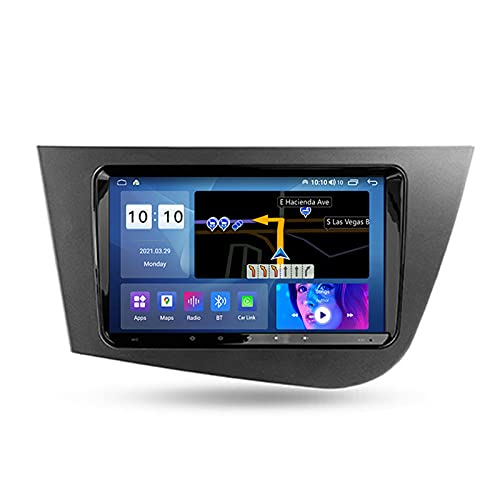 ADMLZQQ Autoradio para Seat Leon 2 2005-2012 Coche Bluetooth 2 DIN Android Radio De Coche 9'' Pantalla Táctil 5G WiFi Plug and Play Completo RCA SWC Soporte Carautoplay/GPS/Dab+/OBDII,M200s