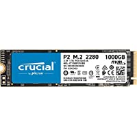 Crucial P2 1TB 3D NAND NVMe PCIe M.2 Internal Solid State Drive