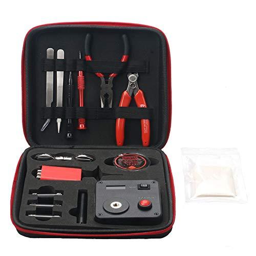 Leeko Spule DIY Werkzeug Kit V3, Wickelzubehör-Set mit Wickelhilfe (V4) /Mini Ohm Reader/Pinzette/Hitzebeständige Draht