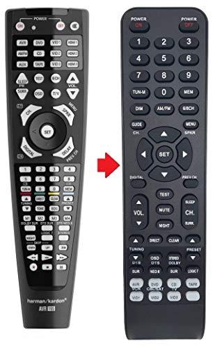 Telecomando di ricambio adatto per AVR132 per AVR1550 (per ricevitore Harman Kardon).