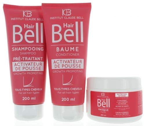 Hairbell Champú+Acondicionador+Máscara Rosa Edición