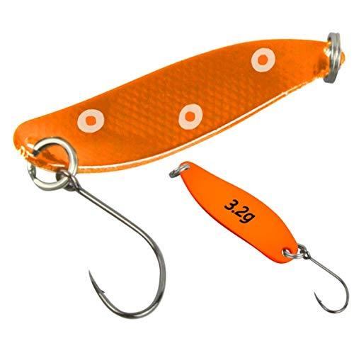 FTM Spoon Hammer Blinker 3,2g - Forellenblinker, Farbe:kupferfarben mit weißen Punkten