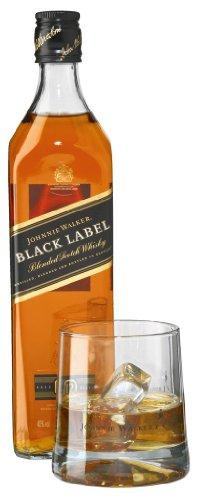 Johnnie Walker 12 Jahre Black Label plus 2 Tumbler in Geschenkpackung 0,7 Liter
