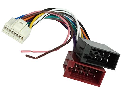 Aerzetix adapter converter kabel adapter stekker ISO kabelboom H7-auto voor ALPINE autoradio's