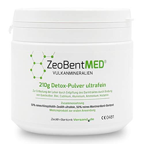 ZeoBent MED Detox-Pulver ultrafein 210 g, CE zertifiziertes Medizinprodukt