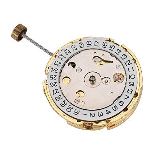DAUERHAFT Movimiento de Reloj 2813, Movimiento de Reloj de Pulsera de Alta precisión, Movimiento Circular DIY con Calendario, Adecuado para Viejos Regalos de Boda para Hombres