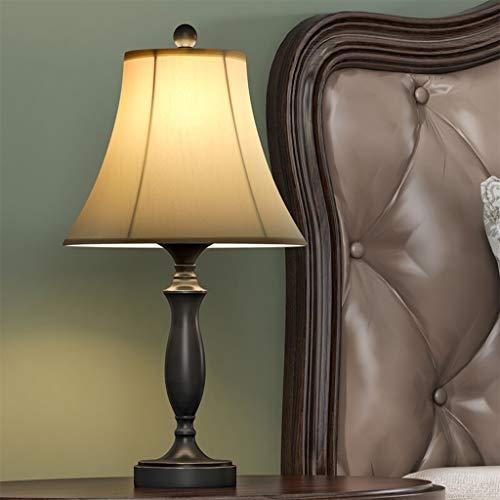 Lámpara de Mesa Lámpara de Escritorio Retro con Lana Blanca Lámpara de Lino, lámparas de Lectura Modernas lámpara de Noche para Dormitorio, Decorativas Rurales