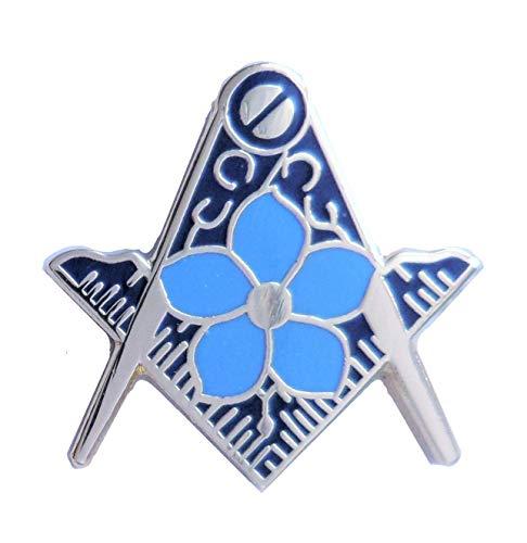 Découpe Motif maçonnique Compas équerre myosotis K154 (Badge)