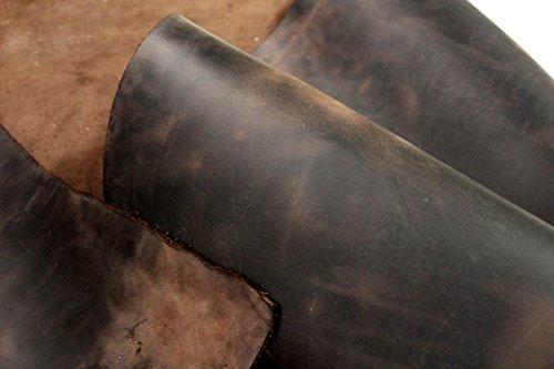 Förster-Fellnest Tolles Leder, braun bis Dunkelbraun, mit Pull Up Effekt, Blankleder, Dickleder, Fettleder, Nubukleder, Rindleder und Antikleder in einem ! Lederstück und Riemen in vielen Größen
