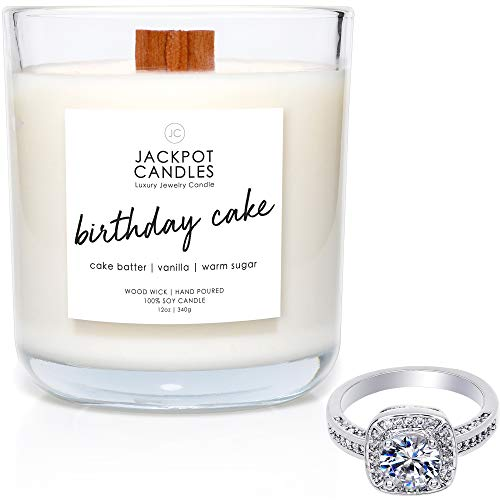 Jackpot Candles バースデーケーキキャンドル 内側にリング付き (15ドルから5,000ドル相当) リングサイズ8