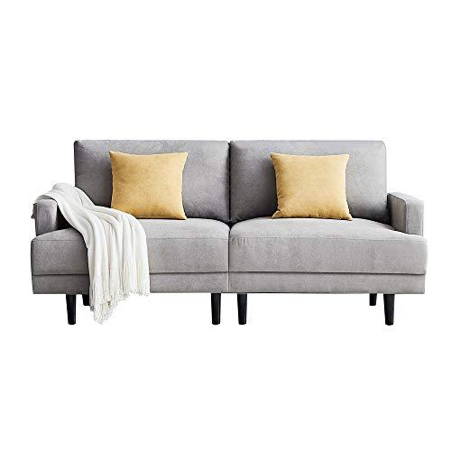 ADIBY Modernes Schlafsofa Möbelsofa 3-Sitzer-Sofa Sofas & Couches Modern Sofa,Einfaches Design kleines Apartment Sofa,180x77x83 cm,für Schlafzimmer/Wohnzimmer/Wohnzimmer,Grau