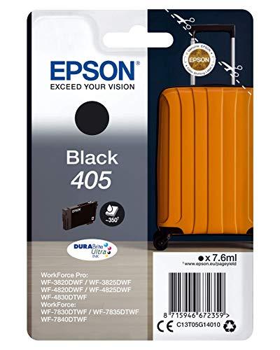 Epson Maletín Original 405 de Tinta, WF-3820DWF WF-3825DWF WF-4820DWF WF-4825DWF WF-4830DTWF WF-7830DTWF WF-7835DTWF WF-7840DTWF, Color Negro