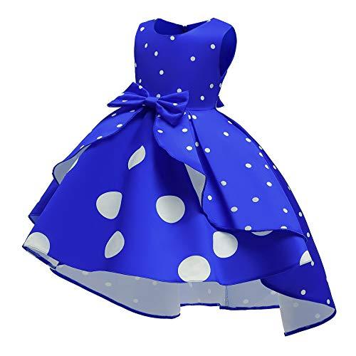 Cichic Vestido para niña de estilo retro, elegante, de fiesta, para niñas, de 2 a 10 años azul 9-10 Años