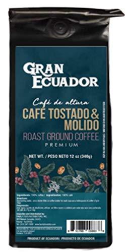 GRAN ECUADOR - PREMIUM ROAST GROUND COFFEE - CAFE TOSTADO Y MOLIDO 12 OZ (1 BAG)
