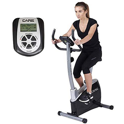 Care Fitness - Vélo d'Appartement ALPHA III - Masse d'Inertie 7kg - Freinage Magnétique - Cardiofréquencemètre - 8 Résistances Manuelles - Ecran LCD 12 Fonctions - Vélo Appartement Care Ergonomique
