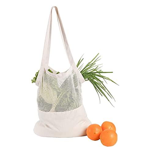 DZAY Bolsa de la compra, bolsa de tela de alta calidad, muy grande, bolsa de la compra, bolsa lavable para pan, nueces, frutas, verduras (A)