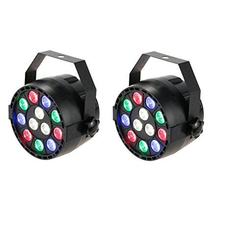 Lixada - Iluminación LED RGB DMX-512, con efecto de luz DJ,