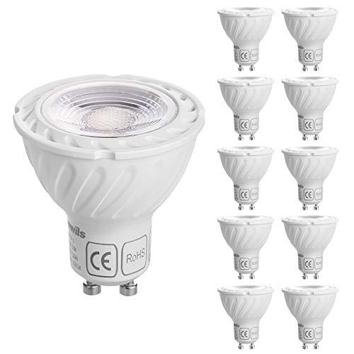 DEWENWILS GU10 LED Dimmbar,Warmweiss 2700K Glühbirne, 5W 350 Lumen LED Leuchtmittel Ersatz für 50W Halogenlampen, 10 Stück, CE und RoHS zertifiziert