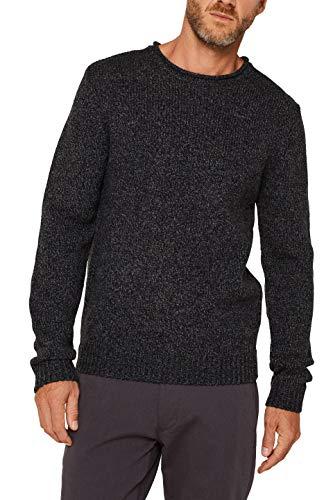 ESPRIT Herren 119EE2I007 Pullover, Schwarz (Black 001), Large (Herstellergröße: L)