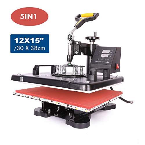 UROK 38x30cm Pressa Di Calore In Giallo Trasferimento Press 1000W...