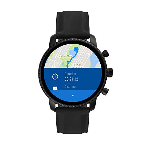 Fossil Men's Gen 4 Explorist HR Heart Rate Stainless Steel and Silicone Touchscreen Smartwatch, Color: Smooth Black (Model: BQD1000) 8