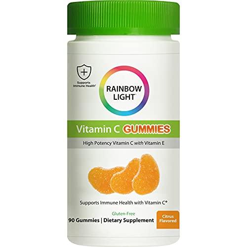 Rainbow Light, Masticable de Vitamina C, Sabor Mandarina, x90 Gummies