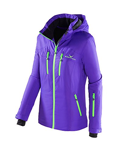 Black Crevice Damen Skijacke, Funktionsjacke, Liberty/grün, 42