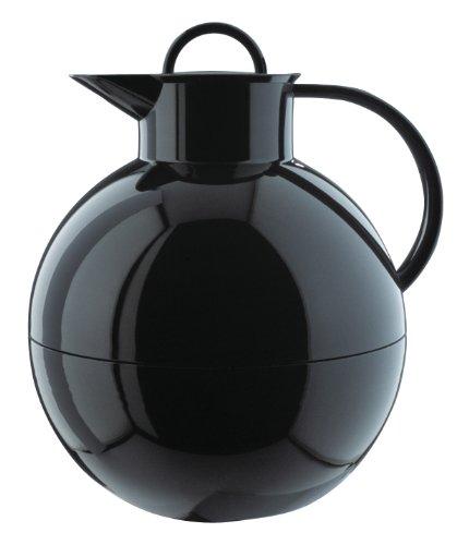 alfi 0105.020.094 Isolierkanne Kugel, Kunststoff glatt Schwarz 0,94 l, 12 Stunden heiß, 24 Stunden kalt, Smooth