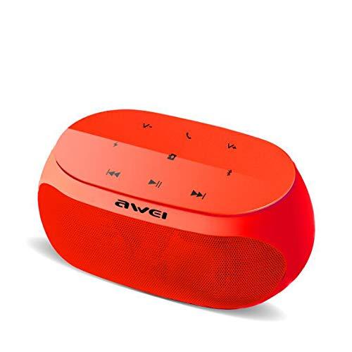 GAX Tragbarer Drahtloser Bluetooth-Lautsprecher, 9W-Ausgangsleistung, Drahtloses Stereo-Paring, Nachtlicht Am Bett, 8 Stunden Spielzeit-Fünf Farben Optional,Red
