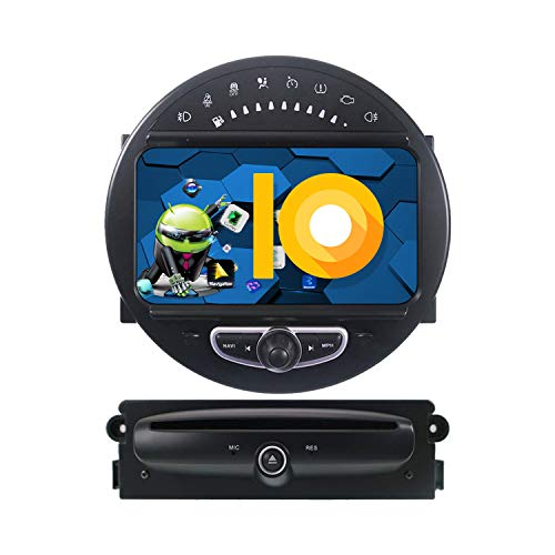 ZWNAV 8 Pulgadas Andriod 9.0 Double DIN Auto Stereo Navi Bluetooth GPS Navigation para BMW Mini Cooper 2006-2014 Unidad de Control del Volante WiFi USB Carplay Mirror Link