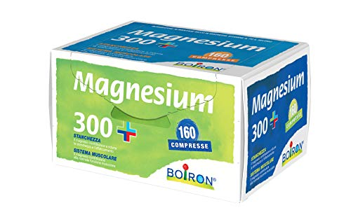 Integratore magnesio e selenio - Vitamine b1, b2, b5, b6, b8, b9 b12 E e PP – Il magnesio contribuisce a ridurre stanchezza e affaticamento - 160 compresse da 500 mg - Boiron Magnesium 300+