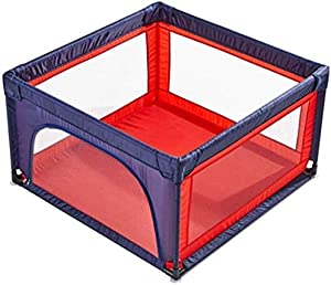 Teppichks Children s Play Fence Indoor Home Baby Baby Safety Fence Fence Crawling Mat Toddler Playground  Color Red