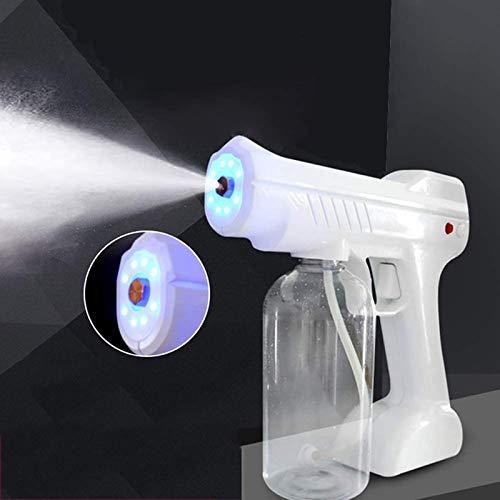 Máquina Pulverizadora Nano Steam Spray Gun Máquina De por Pulverizador Eléctrico (800Ml) Portablespray Machine con Luz Azul, para Hospitales Hogar, Oficina, Mercado, Coche.
