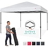 Best Choice Products 10x10ft Instant Pop Up Portable Canopy with 1-Button Push, Wheeled Bag (multiple colors)