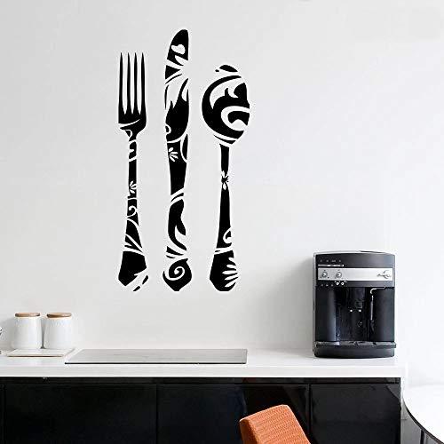 HFDHFH Etiqueta de la Pared de Estilo islámico vajilla patrón Retro Arte Mural Cocina Restaurante Comedor Ventana Decorativa calcomanía de Vinilo