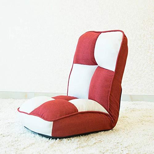 Xiaoludian Kreative Faule Couch Tatami Single Klappstuhl Bett Stuhl Schwimmenden Fenster Stuhl Faul Computer Stuhl Recliner (Farbe : Red)
