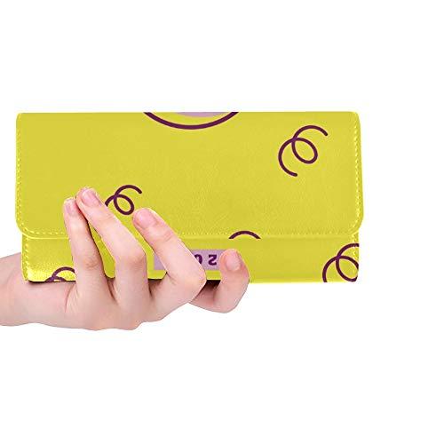 Tarjeta gráfica Personalizada de Cerdo Personalizada de año 2019 Monedero Chino para Mujer Monedero Triple Monedero Largo Portatarjetas de crédito Estuche Bolso