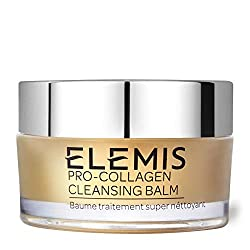 20g with cleansing cloth Elemis Pro-Collagen Cleansing Balm combines precious starflower, elderberry and optimegaTM oils with rose and mimosa waxes, and anti-ageing padina pavonica to deeply cleanse, nourish and smooth for a glowing complexion.