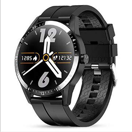 GPS Pantalla Táctil Reloj Inteligente,Oxígeno En Sangre Pressione Sanguigna Pulsómetros Monitor Impermeable Reloj De Contador De Pasos Dormir Pulsera De Actividad Smart Watche Negro 1.3inch