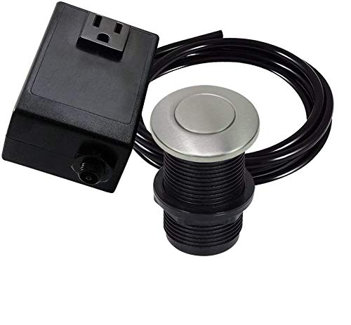 Single Outlet Garbage Disposal Turn On/Off Sink Top Air Switch Kit in...