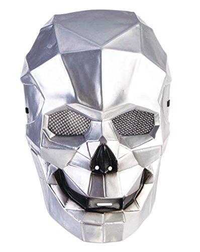 Forum-Máscara de calavera Cyborg, color plata, talla única (Bristol Novelty 78658)