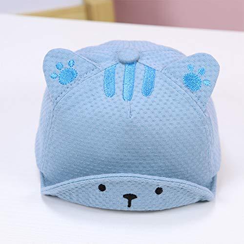 Sombrero de bebé niño 3-12 Meses Protector Solar Lindo niñaGorra de béisbolSuaveGorra de niño Gorra de bebé Azul (3-18 Meses) 42-47cm